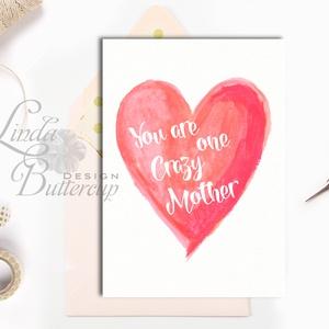 Vicces Anyák napi Képeslap, képeslap Anyák napjára, Anya Képeslap,Tavasz, Vicces Angol felirat, Mum (LindaButtercup) - Meska.hu