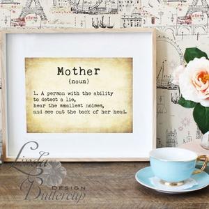 Vicces Anyák napi Képeslap, képeslap Anyák napjára, Anya Képeslap,Tavaszi, Vicces Angol felirat, Mum (LindaButtercup) - Meska.hu