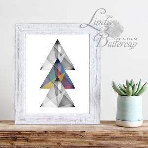 Modern Art, Háromszög kép, Modern dekoráció, Geometriai dekor, Geometriai formák, Absztrakt minta, absztrakt forma (LindaButtercup) - Meska.hu