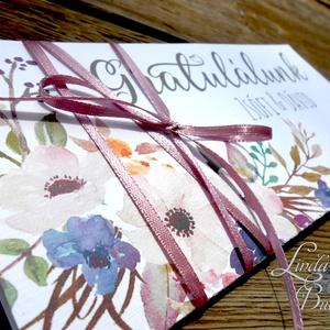 Pénzátadó boríték, pénz átadó lap, Nászajándék, Gratulálunk képeslap, Esküvői Gratuláció, pénz lap, Boríték, Papír írószer, Otthon & Lakás, Fotó, grafika, rajz, illusztráció, Papírművészet, Igényes Egyedi Személyre szóló Pénz Átadó Zsebes Boríték Szalaggal átkötve.\n\nAdd át nászajándékodat ..., Meska