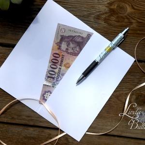 Pénzátadó boríték, pénz átadó lap, Nászajándék, Gratulálunk képeslap, Esküvői Gratuláció, pénz lap (LindaButtercup) - Meska.hu