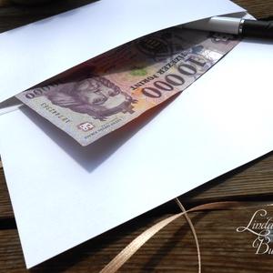 Agancsos ajándék, Pénzátadó boríték, agancs,őszi esküvő, Nászajándék, Gratulálunk képeslap, Esküvői Gratuláció, pénz lap (LindaButtercup) - Meska.hu