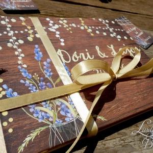 Rusztikus Esküvői Emlékkönyv, Vintage Esküvő, Nászajándék, Levendula Virág, vendégkönyv, Lila, Party (LindaButtercup) - Meska.hu
