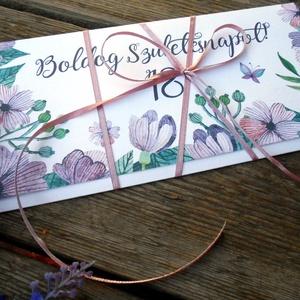 Pénzátadó boríték Szülinapra, Szülinapi pénz átadó lap, Boldog születésnapot képeslap, utalvány (LindaButtercup) - Meska.hu