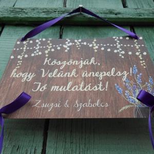 Esküvői Dekoráció, Esküvői felirat A4, dekor, Felirat, Banner, Bunting, Esküvő, Vintage, Rusztikus, tábla (LindaButtercup) - Meska.hu