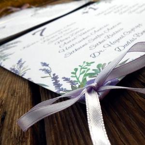 Vintage Esküvő, Ültetési rend, Esküvői Ültetésrend, Virágos, Rusztikus, Esküvő ültető kártya, Dekor, levendula (LindaButtercup) - Meska.hu