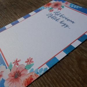 Nyári Esküvői lap, kártya, bohém esküvő, party kártya, azt kívánjuk nektek hogy (LindaButtercup) - Meska.hu