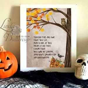 Halloween Kép, Halloween party, Halloween Dekoráció, Őszi Ajtódíszr, Otthon & Lakás, Ajtódísz & Kopogtató, Dekoráció, Fotó, grafika, rajz, illusztráció, Mindenmás, Meska