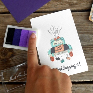 Pénz átadó boríték, Nászajándék, Gratulálunk képeslap, Esküvői Gratuláció, pénz, ujjlenyomat - esküvő - emlék & ajándék - nászajándék - Meska.hu