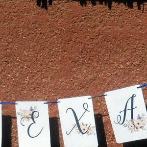 Zászlófüzér, Esküvői dekor, Zászló, Banner, Bunting, Esküvő dekoráció, Vintage, Rusztikus, Szalag, füzér (LindaButtercup) - Meska.hu
