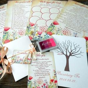 Leánybúcsú ajándék szett, Lánybúcsú party, Esküvői lap, lány búcsú, Eskü, Esküvőre, Virágos, Vadvirág (LindaButtercup) - Meska.hu