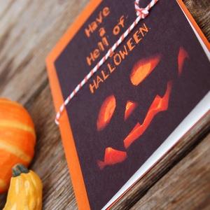 Halloween Képeslap, Halloween Üdvözlőlap, Party Meghívó, Őszi dekor, ajándékkártya, kísérőkártya (LindaButtercup) - Meska.hu