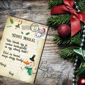 Vicces Karácsonyi Képeslap, Humorors, Adventi kártya, Vicces lap, üdvözlőlap, ironikus, mikulás (LindaButtercup) - Meska.hu