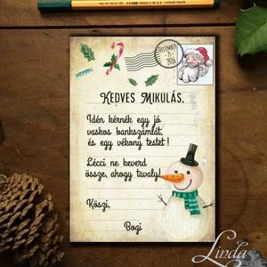 Karácsonyi Képeslap, vicces, Humoros, Adventi kártya, Vicces lap, üdvözlőlap, ironikus, mikulás, Karácsonyi képeslap, Karácsony & Mikulás, Otthon & Lakás, Fotó, grafika, rajz, illusztráció, Mindenmás, A/6-os méretű VICCES Igényes Egyedi Karácsonyi képeslap, borítékkal együtt.\n\nA képeslap kinyitható, ..., Meska