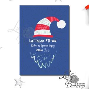 Vicces Karácsonyi Képeslap, Humorors, Modern, Adventi kártya, Vicces lap, üdvözlőlap, ironikus, szarkasztikus, Karácsony, Karácsonyi ajándékozás, Karácsonyi képeslap, üdvözlőlap, ajándékkísérő, Fotó, grafika, rajz, illusztráció, Mindenmás, Meska