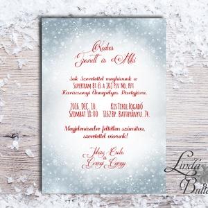 Karácsonyi Céges Party Meghívó, Elegáns meghívó, Kari Buli, hópihe, hóesés, egyedi, karácsony, klasszikus, Karácsonyi képeslap, Karácsony & Mikulás, Otthon & Lakás, Fotó, grafika, rajz, illusztráció, Papírművészet, Elegáns Karácsonyi  Céges Party meghívó\n\nHívd meg vendégeidet ezzel a gyönyörű egyedi meghívóval a K..., Meska