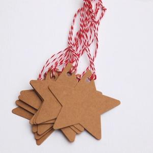 10 db Vintage Karácsonyi Ajándékkísérő, Adventi Kártya, Csillag, Mikulás, barna, Ünnepi kártya, kiskártya, ajándék (LindaButtercup) - Meska.hu