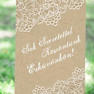 Esküvői Poszter A3, Welcome sign, Esküvői kép, Esküvő Dekor, Esküvői felirat, Vintage, tábla, Csipke,Zsákvászon (LindaButtercup) - Meska.hu