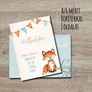 Megérkeztem, Babaváró képeslap, Babaköszöntő képeslap, Keresztelő, kisfiú, kislány, baba, baby, újszülött (LindaButtercup) - Meska.hu