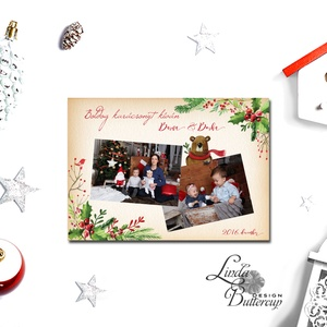 Névre szóló Karácsonyi Lap A4, Karácsonyi ajándék, fotó, Mikulás, télapó, Kép, Falikép, kari, miki, egyedi ajándék - karácsony - karácsonyi ajándékozás - karácsonyi képeslap, üdvözlőlap, ajándékkísérő - Meska.hu
