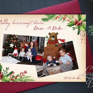 Névre szóló Karácsonyi Lap A4, Karácsonyi ajándék, fotó, Mikulás, télapó, Kép, Falikép, kari, miki, egyedi ajándék, Karácsonyi képeslap, Karácsony & Mikulás, Otthon & Lakás, Festészet, Fotó, grafika, rajz, illusztráció, A4-es Karácsonyi lap, 1 oldalas nyomtatás, középen hely kihagyva a saját fotódnak 9x13-as méretben.\n..., Meska