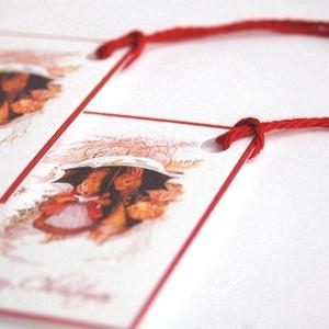Állatos Karácsonyi Ajándékkísérő, Nyuszi, Adventi Kártya, Mikulás, nyúl, piros, Ünnepi, kiskártya, ajándék, natúr,, Karácsonyi képeslap, Karácsony & Mikulás, Otthon & Lakás, Fotó, grafika, rajz, illusztráció, Mindenmás, Állatos Igényes Ajándékkártya darabra\n\n* Kártya mérete: Kb:  4.5x6.7cm\n* Hátoldal üres, saját üzenet..., Meska