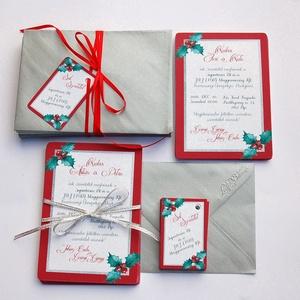 Karácsonyi Céges Party Meghívó, Elegáns meghívó, Kari Buli, egyedi, karácsony, klasszikus, cég buli, Karácsonyi képeslap, Karácsony & Mikulás, Fotó, grafika, rajz, illusztráció, Papírművészet, Elegáns Karácsonyi  Céges Party meghívó\n\nHívd meg vendégeidet ezzel a gyönyörű egyedi meghívóval a K..., Meska
