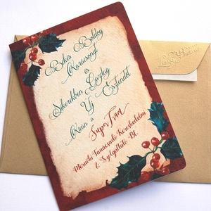 Névre szóló Karácsonyi Képeslap, Retro, Vintage, Adventi Kártya,üdvözlőlap, személyre szóló lap, egyedi, Karácsonyi képeslap, Karácsony & Mikulás, Otthon & Lakás, Fotó, grafika, rajz, illusztráció, Mindenmás, Személyre szóló A/6-os Egyedi kinyitható Vintage stílusú Karácsonyi képeslap, borítékkal.\n\nKinyithat..., Meska