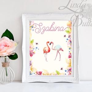 Babaszoba Dekoráció, Flamingó festmény, Virágos kép, virág falikép, állat, madár, Baba, gyerek,Gyerekszoba, Dekoráció, Otthon & lakás, Gyerek & játék, Gyerekszoba, Baba falikép, Festészet, Fotó, grafika, rajz, illusztráció, A/4-es méretű nyomtatott kép, Print lap. \n\n\n250g matt, vászon mintájú kiváló minőségű tört-fehér írh..., Meska