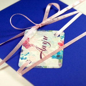 Egyedi Anyák napi Képeslap, Anyák napja üdvözlőlap, Anya Képeslap,Tavaszi virág, pipacs, orgona, réti virágos, kék,  (LindaButtercup) - Meska.hu