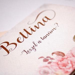 Tanú felkérő lap, Rusztikus Esküvő, tanú lap, koszorúslány kérő, Esküvői Képeslap, virágos, Esküvői meghívó, virágos (LindaButtercup) - Meska.hu
