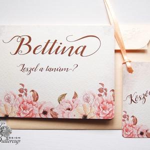 Tanú felkérő lap, Rusztikus Esküvő, tanú lap, koszorúslány kérő, Esküvői Képeslap, virágos, Esküvői meghívó, virágos, Meghívó, Meghívó & Kártya, Esküvő, Festészet, Fotó, grafika, rajz, illusztráció, Esküvői meghívó, koszorúslány vagy tanú kérő lap A/6, gyönyörű fényes borítékkal.\n\nSzemélyre szóló, ..., Meska