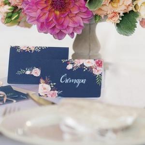Esküvői ültető kártya, Elegáns, virágos ültető, hely, asztal, Esküvői dekor, Virágos, Party (LindaButtercup) - Meska.hu