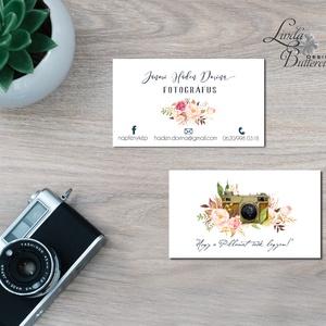 Névjegykártya, Egyedi Tervezés, fotográfus, címke, Névjegy, design, szerkesztés, virágos, logo, ajándékkísérő, logó, Naptár, képeslap, album, Otthon & lakás, Képeslap, levélpapír, Jegyzetfüzet, napló, Ajándékkísérő, Fotó, grafika, rajz, illusztráció, Papírművészet, Virágos Névjegykártya csajoknak!\n\nFodrászoknak, Kozmetikusoknak bárkinek aki elegáns stílusban szere..., Meska