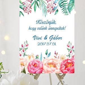 Esküvői Poszter A3, Esküvői kép, Esküvő Dekor, Esküvői felirat, Vintage, Elegáns, Virágos, Vendég, Esküvő, Esküvői dekoráció, Dekoráció, Otthon & lakás, Kép, Fotó, grafika, rajz, illusztráció, Papírművészet, A/3-as Esküvői Poszter, bármilyen egyszerű felirattal, keret nélkül.\n\nTökéletes kellék & Dekor Elegá..., Meska