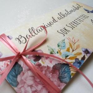 Pénzátadó boríték, Ballagásra, Évzáró, Gratulálunk képeslap, Gratuláció, virágos, pénz átadó lap, vintgae, érettségi (LindaButtercup) - Meska.hu