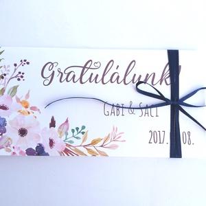 Pénzátadó boríték, pénz átadó lap, Nászajándék, Gratulálunk képeslap, Esküvői Gratuláció, pénz lap, Esküvő, Nászajándék, Emlék & Ajándék, Fotó, grafika, rajz, illusztráció, Papírművészet, Meska