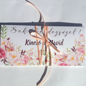 Pénzátadó boríték + Kiegészítő lap, pénz átadó lap, Nászajándék, Gratulálunk képeslap, Esküvői Gratuláció, pénz kártya (LindaButtercup) - Meska.hu