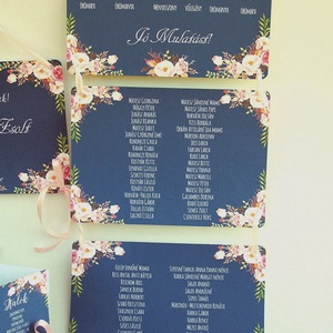 Vintage Esküvő, Ültetési rend, Esküvői Ültetésrend, Virágos, Rusztikus, Esküvő ültető kártya, Dekor, Party (LindaButtercup) - Meska.hu