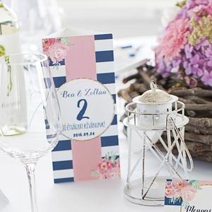 Esküvői Menü, elegáns Esküvő, Virágos Esküvői lap, Rusztikus, Vintage Esküvő, Virágos, Party menü (LindaButtercup) - Meska.hu