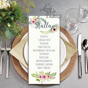 Esküvői Asztalszám, Menü, Itallap, Étlap, Vacsora, mezei virág, rusztikus, vintage, réti, Esküvői dekor, Asztal dekor, Esküvő, Meghívó & Kártya, Menü, Fotó, grafika, rajz, illusztráció, Papírművészet, Asztalszám, Nyári Esküvőre tökéletes Design!\n\nKiemelkedő dekorációja lehet az Esküvői Asztaloknak.\n\n..., Meska