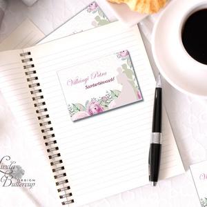 Névjegykártya, Egyedi Tervezés, fotográfus, címke, Névjegy, design, szerkesztés, virágos, logo, ajándékkísérő, logó, Naptár & Tervező, Papír írószer, Otthon & Lakás, Fotó, grafika, rajz, illusztráció, Papírművészet, Virágos Névjegykártya csajoknak!\n\nFodrászoknak, Kozmetikusoknak bárkinek aki elegáns stílusban szere..., Meska