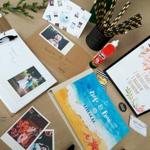 Fotó Album, Polaroid camera, Polaroid fotó, photo, camera, Esküvői Emlékkönyv, Mappa Vendégkönyv, virágos könyv,  (LindaButtercup) - Meska.hu