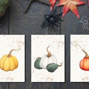 Konyhai dekoráció, 3db print lap, konyha falikép, halloween, Halloweenparty, Ajtódísz, tök, dekor, pumpkin, ősz, őszi, Otthon & Lakás, Kép & Falikép, Dekoráció, 13x18-as méretű Halloween-es nyomtatott kép, Print lapok  3db-os szett!  MÉRET: 13x18cm  Tökéletes H..., Meska