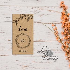 Esküvői ültetőkártya, ültető, natúr, kraft, spárga, barna, ültetésirend, hely kártya, esküvői dekoráció, rusztikus (LindaButtercup) - Meska.hu
