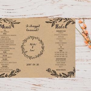 Natúr Barna Menü, Asztalszám, kraft, spárga, Itallap, Esküvői lap, Esküvői menü, rózsaszín menü, Party menü, rusztikus, Esküvő, Meghívó, ültetőkártya, köszönőajándék, Esküvői dekoráció, Naptár, képeslap, album, Otthon & lakás, Fotó, grafika, rajz, illusztráció, Papírművészet, Esküvői Menü Háromszög Spárgával kötve\n\nÁlló 3szög forma\n\nSzerkesztési költség 2000 Ft\nAz egyszeri s..., Meska