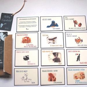 Kívánság Kuponok, Vicces Ajándék, Kupon, Évfordúló, Képeslap, Szülinap, Születésnapi Kártyák, ajándékkártyák, meglepetés (LindaButtercup) - Meska.hu
