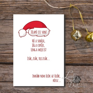 Vicces Karácsonyi Képeslap, Humorors, Mocskos fantázia, Adventi kártya, Vicces lap, üdvözlőlap ironikus, mikulás, Otthon & Lakás, Karácsonyi képeslap, Karácsony & Mikulás, Minőségi Kinyitható Képeslap  * MÉRET: Félbehajtva: kb.: A6  * KIVITELEZÉS: Lekerekített sarkok, bel..., Meska