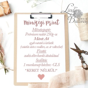 Otthoni falikép, A4 Print, hálószoba dekoráció, ajándék, kép, dekor, pálma levél, növény, zöld, sweet home, felirat (LindaButtercup) - Meska.hu