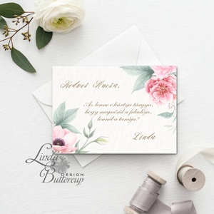 Tanú felkérő lap, koszorúslány felkérő lap, Esküvői Képeslap, virágos, rózsa, rózsás, romantikus, esküvői meghívó, Meghívó, Meghívó & Kártya, Esküvő, Festészet, Fotó, grafika, rajz, illusztráció, Tanú / Koszorúslány felkérő lap A/6, borítékkal.\n\nNÉVRE SZÓLÓ LAP:\n** SZÖVEG VÁLTOZTATHATÓ**\n\n* KIVI..., Meska